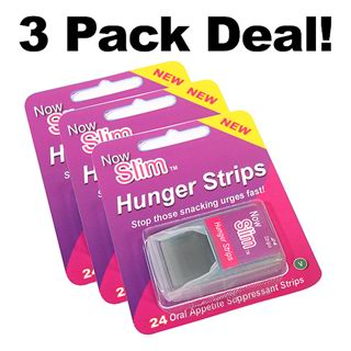 Now Slim Hunger Strips – 3 packet deal